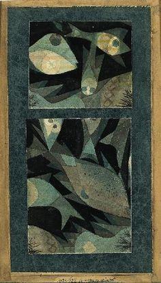 Carnet Imaginaire — aceblush: Paul Klee - Aquarium Green-Red -...
