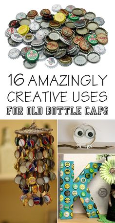 16 Amazingly Creative Uses For Old Bottle Caps - Save your bottle caps, and put them to some good DIY use.