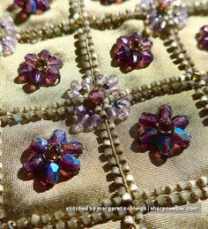 Close-up of bead embroidery from Inspirations project 'Rare Vintage' (Issue 48).