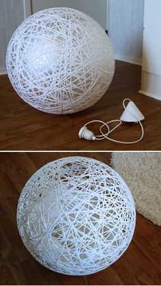 Diy: Lámpara de hilos tipo random light gigante : x4duros.com