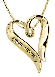 "14k Yellow Gold Plated Sterling Silver ""A Mother Holds Her Child's Hand For A Short While And Their Hearts Forever"" Heart...  http://www.amazon.com/Yellow-Plated-Sterling-Forever-Pendant/dp/B002AMUUEC/?tag=httpbetteraff-20"