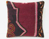 kilim pillow 18x18 floral throw pillow cover designer rug turkish pillow case tribal cushion cover bed cushion cover floor pillow case 22181
