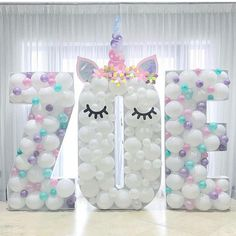 Unicorn party balloon name! Unicorn Birthday Parties, Baby Birthday, Birthday Ideas, Balloon Decorations, Birthday Party Decorations, Pyjamas Party, Deco Ballon, Decoration Evenementielle, Unicorn Balloon