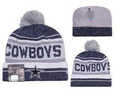 5d9446e86b4459 Men's / Women's Dallas Cowboys New Era 2016 NFL Snow Dayz Knit Pom Pom  Beanie Hat