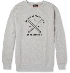 Printed loopback cotton sweatshirt - APC