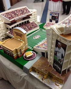 Mississippi State Bulldogs Football Wedding Cake - Davis Wade Stadium  #footballwedding