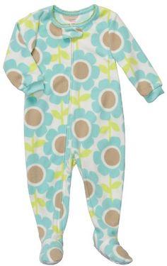 Carter's Girls Fleece Blue Flower Blanket Footed « Clothing Impulse