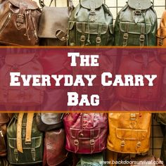 Good ideas for an every day carry bag  (EDC) - Backdoor Survival
