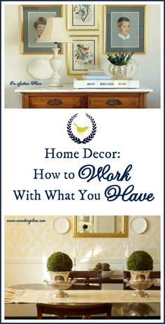 DIY:: The Abolute Best Way to Save Money on Home Decor !!! Tutorial on Learning How to Work With What You Have !! This is Excellent !! by - On Sutton Place