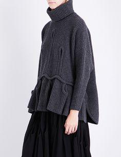 ANTONIO BERARDI Turtleneck wool and cashmere-jumper