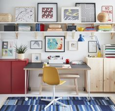 2021 IKEA Catalog: Eight Design Ideas To Try Now Traditional Bookcases, High Top Tables, Wall Mounted Desk, Empty Wall Spaces, College Dorm Rooms, Desk With Drawers, Interiores Design, Wall Design, Floating Shelves