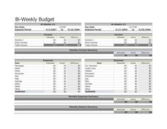 Personal Monthly Budget Spreadsheet Compares Budgeted With Actual