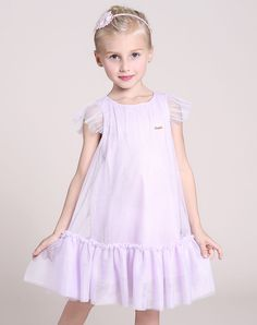 #VIPme Light Purple Cap Sleeve Gauze Ruffles A-line Dress ❤️ Get more outfit ideas and style inspiration from fashion designers at VIPme.com.