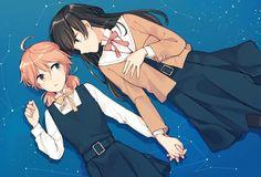 koito yuu and nanami touko (yagate kimi ni naru) drawn by nakatani nio Anime Girlxgirl, Yuri Anime, Fanarts Anime, Kawaii Anime, Anime Characters, Anime Art, Manhwa, Lesbian Art, Anime Reviews