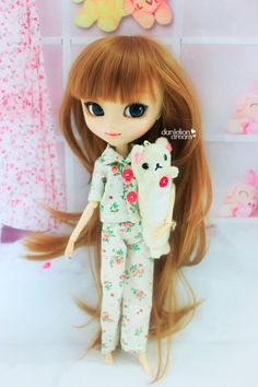 Flower Pajama for Pullip / Blythe / 12 dolls by DandelionDreamDoll, $9.80