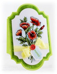 Cindy Lawrence - Poppies Labels Twenty Nine set - beautiful coloring!