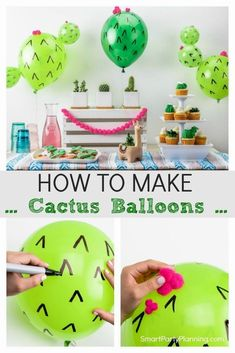 and easy DIY cactus balloons that are perfect for summer or Mexican fiesta p. Fun and easy DIY cactus balloons that are perfect for summer or Mexican fiesta p., Fun and easy DIY cactus balloons that are perfect for summer or Mexican fiesta p. Mexican Birthday Parties, Mexican Fiesta Party, Fiesta Theme Party, Festa Party, Unicorn Birthday Parties, First Birthday Parties, Taco Party, Fiesta Gender Reveal Party, Fiesta Games