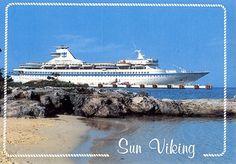 Art print POSTER Royal Viking Sun Cruise Ship in Port