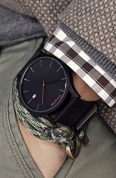 MVMT Leather Strap Watch, 45mm available at #Nordstrom