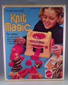 1974 Mattel Knit Magic Vintage Yarn Toy Knitting Machine Retro 70's Toy  #Mattel