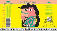 Mikkeller Keeper Pilsner. Designed by Keith Shore.