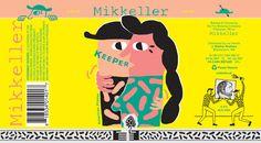 Mikkeller Keeper Pilsner. Designed by Keith Shore.