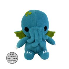PDF Pattern - Cthulhu Plush Toy Sewing Pattern Stuffed Monster