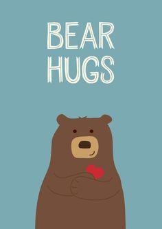Urso Illustration Inspiration, Cute Illustration, Bear Cartoon, Cute Cartoon, Hug Quotes, Bear Signs, Bear Drawing, Love Bear, Bear Art