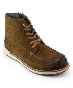 Look at this #zulilyfind! Tan Mattawa Leather Boot #zulilyfinds