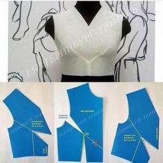 y shaped center dart pattern on Pattern Drafting Tutorials, Sewing Tutorials, Dress Tutorials, Techniques Couture, Sewing Techniques, Dress Sewing Patterns, Clothing Patterns, Skirt Patterns, Coat Patterns