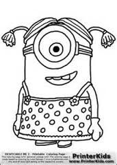 Little Girl The Minion Coloring Pages Printable And Book To Print For Free Find More Online Kids Adults Of