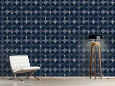 Design #Tapete Schachbrettblumen