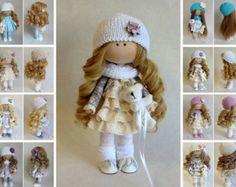 Handmade doll Tilda doll Interior doll Art doll Violet doll