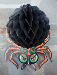 Vintage Halloween Honeycomb Spider Hanging by TremendousTreasures, $10.00