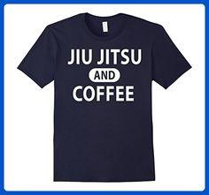 Mens Jiu jitsu and Coffee Tee Brazilian JiuJitsu T Shirt Dogs XL Navy - Food and drink shirts (*Amazon Partner-Link)