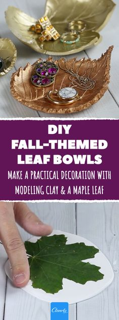 Make A Practical Decoration With Modeling Clay & A Maple Leaf, . Make A Practical Decoration With Modeling Clay & A Maple Leaf, Clay Crafts For Kids, Crafts For Seniors, Diy Crafts To Sell, Senior Crafts, Sell Diy, Adult Crafts, Leaf Projects, Easy Diy Projects, Leaf Crafts