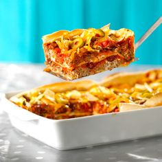 Make-Ahead Mexican Beef Lasagna Recipe by Canadian Beef Tortillas, Mexican Lasagna Recipes, Snack Recipes, Cooking Recipes, Party Recipes, Beef Recipes, Lasagna Ingredients, Traditional Lasagna, Beef Sirloin