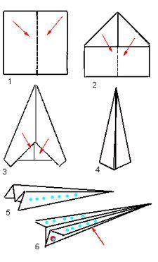 Instructions pour fabriquer un avion en papier