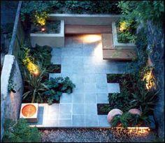 jardineras y bancos
