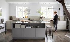 Styling for Ballingslöv Modern Kitchen Cabinets, Kitchen Redo, Kitchen Dining, Beautiful Kitchens, Cool Kitchens, Kitchen Interior, Interior Design Living Room, Minimalist Kitchen, Deco Design