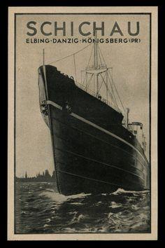 Alte Reklame Werbung 1941 SCHICHAU Werft Werke Elbing Danzig Königsberg. *Schichau Werft ran shipyards in the three cities listed.