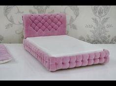 Кровать для кукол Барби, Монстер Хай и.т.д./Bed for dolls Barbie, Monster High, etc. - YouTube