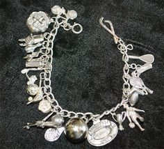 Charm Bracelets of Vintage Sterling Silver, from many years, charm has been involving many styles and ways different and reproduced by others, silver charm for women is available in various styles, design, signs, every time. which has its own meanings, many times ladies like design of bracelets having designs of animals and pets etc,.  birds and bees, many ladies who like sports and they may be known as sports wome