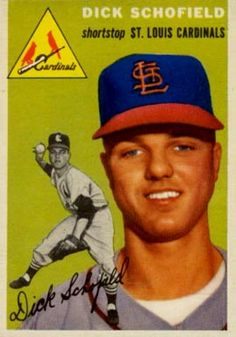 1954 Topps Dick Schofield Baseball Card