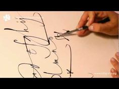 Short video of ruling pen to calligraph the alphabet, nice to watch the calligrapher's rhythm Some day I want to learn how to use a ruling pen!