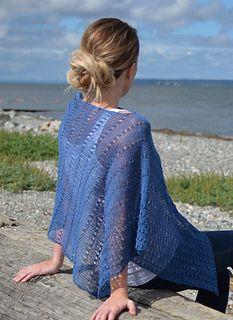 LT - Portrush Poncho by Brenda Brayfield - free for 24 hours Knitting Patterns Free, Free Knitting, Free Crochet, Free Pattern, Crochet Patterns, Knitted Poncho, Warm Weather, Shawls, Ravelry