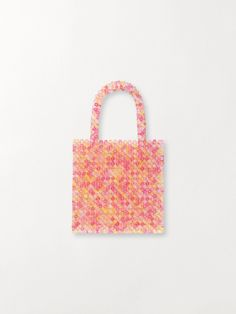 Bead Bag | Køb Tasker Online | BECKSÖNDERGAARD – Becksöndergaard.dk Beaded Bags, Straw Bag, Summer Outfits, Tote Bag, Beads, Pink, Accessories, O Beads, Beading
