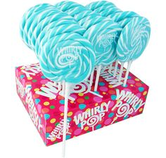 Blue & White Swirl 1.5-Ounce Whirly Pops: 24-Piece Display