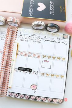 Plan with Me Simply Gilded x Teresa Collins Collab Washi Tape Only Planner Dividers, Planner Organization, Planner Tips, Happy Planner, Washi Tape Planner, Washi Tape Journal, Planner Decorating, Decorating Ideas, Teresa Collins