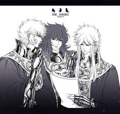 Radamanthys, Aiacos e Minos.